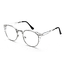 26d459d12cb Women Men Retro Style Round Nerd Glasses Clear Lens Eyewear Metal Frame  Glasses