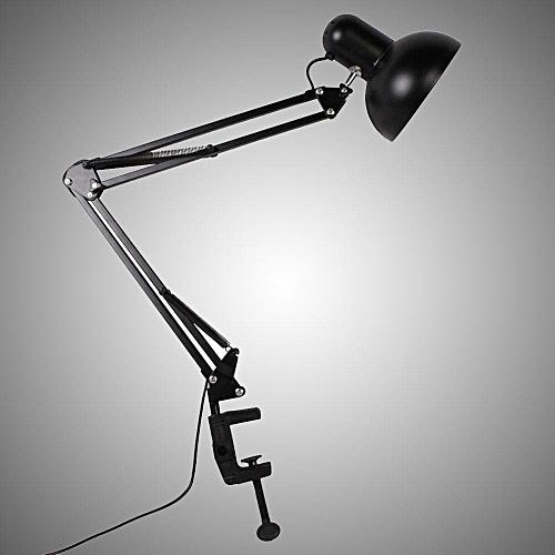 MagicWorldMall Swing Arm Clamp Table Desk Lamp Light Office Studio Home Lighting Fixture Black