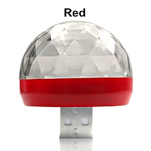 USB DC5V Colorful Stage Light Music Control Car Decoration Atmosphere Lamp Voice Control Ktv Dj Disco Lights   IPhone Android(Red)(type C  Android) for sale  Nigeria