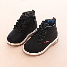 4d0c5e366a54 Fashion Leisure Children Shoes Martin Boots Anti-skid Shoes For Boys Girls  Black 21 Without