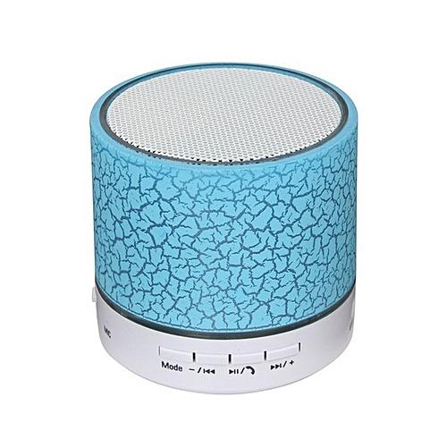 Smart LED Light Crack Mini Wireless Bluetooth Stereo Speaker Support TF Card Blue