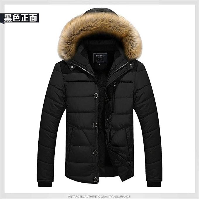 9cbe305f74b45 Black Winter Jacket Men Casual Cotton Thick Warm Coat Men s Outwear Parka  Plus Size 4XL Coats