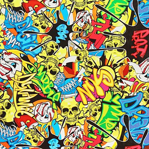 Colorful Skulls PVA Hydrographic Water Transfer Printing Hydro Helmet Film Decor