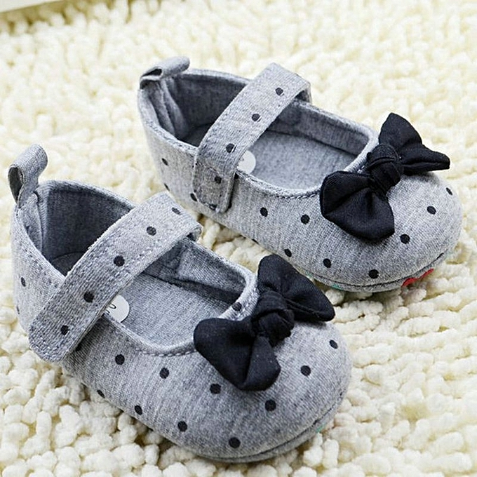 Mother & Kids Cute Toddler Baby Girls Soft Bottom Shoes Polka Dots Bow-knot Prewalker For Kids