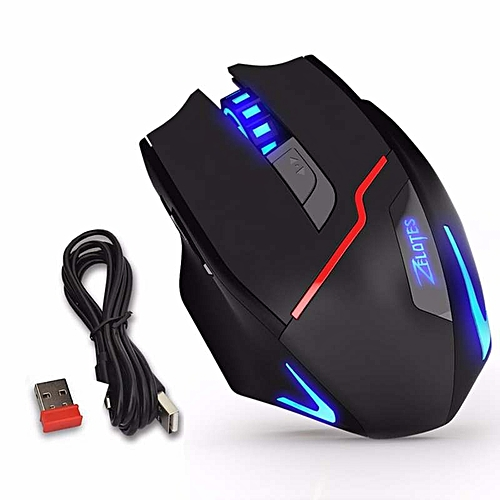 Grace Zelotes F18 Wireless/Wired Optical Gaming Mice Mouse With 3500 DPI 2.4 GHz Wireless Connection For Laptop Desktop PC Gamer