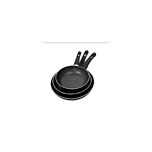3pc Heavy Duty Teflon Coated Nonstick Fry Pan