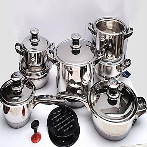 Royal 17pc Cookware Set With Glass Lid