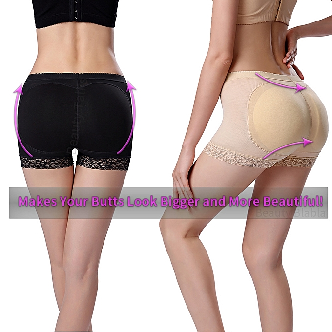 fdc592ed92f ... Breathable Lace Pattern High Elastic Hip Butt Lifting Shapewear Butt  Lifter Padded Panties Mid Waist Underwear ...