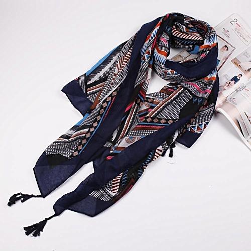 Generic Fashion Print Stitch Scarf Long Scarves Flower Beach Wrap Ladies Stole Shawl