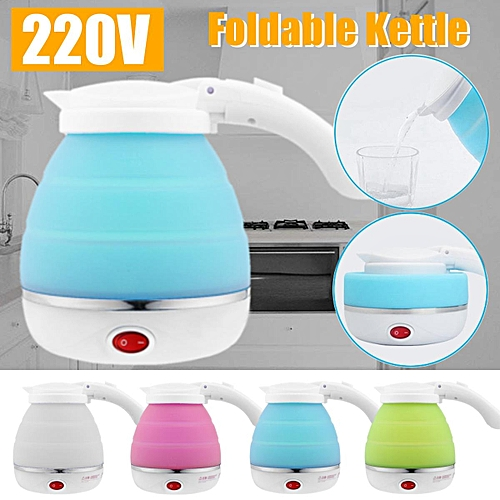 Travel Silicone Foldable Collapsible Electric Water Kettle Camping Water Boiler