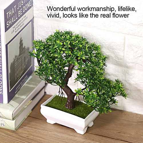 Artificial Bonsai Fake Blossom Flower Potted Plant Home Office Garden Indoor Decor