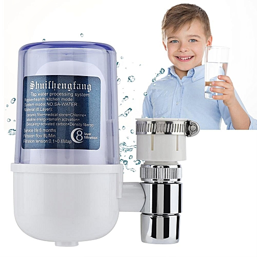 8 Stage Water Faucet Purifier Tap Filter Remove Harmful Substance For Household Kitchen