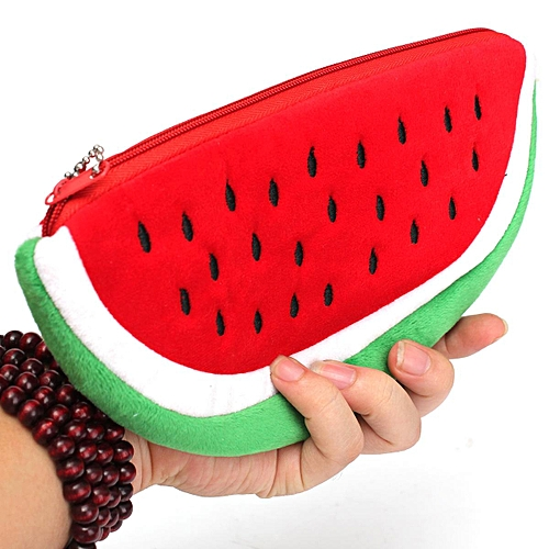 3 X Watermelon Student Officer Pencil Bag Case Pouch (Red)