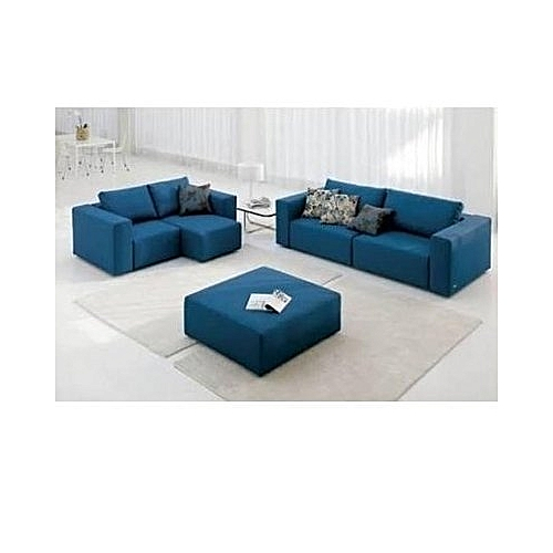 Relaxant 5 Seaters Sofa . Blue .Order Now And Get OTTOMAN Free (DELIVERY ONLY IN LAGOS)