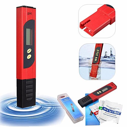 Digital PH Meter Water Tester Pocket Aquarium Pool Wine Urine LCD Pen Monitor US Red