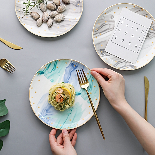 Creative Ceramic Tableware, Home Plate, Dish, Steak Plate, Western Plate