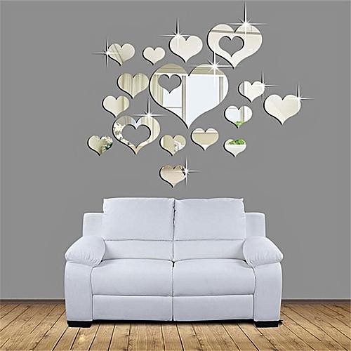 generic elegant home decoration home 3d removable heart art decor
