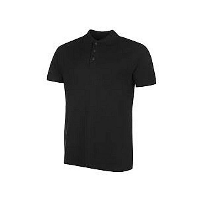 a36e65e36515 Fashion Mens Plain Polo Shirt-black | Jumia NG