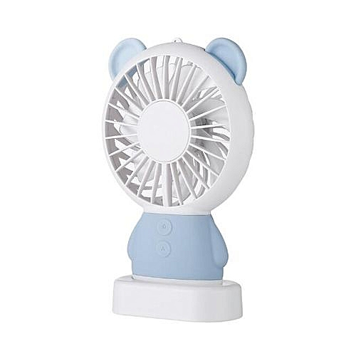 Handheld Mini Bear Multi-functional Portable Fans - Blue