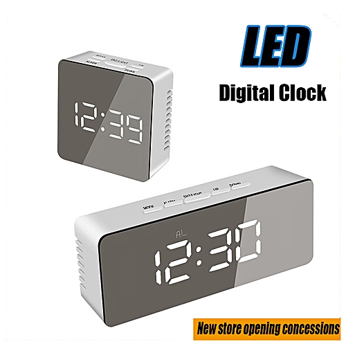 New Multifunctional LED Digital Mirror Clock Makeup/Clock