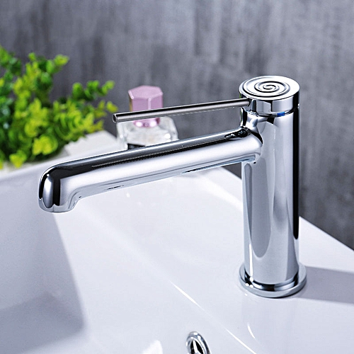 Basin Faucet White Paint Brass Bathroom Hot And Cold Mixer Long Handle Deck Mounted Water Tap Black Paint/Chrome Plated 3 Choice
