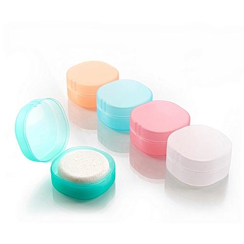 Portable Rounded Transparent Foaming Sponge Travel Soap Container Soap Storage Box L
