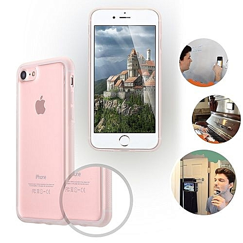 IPhone 7 Case,iPhone 7 Phone Case,iPhone 7 Clear Case,iPhone 7 Anti Gravity Phone Case, Nano Hands-Free Selfie Clear Protective Goat Case Stick To Mirror, Glass, Tile, Smooth Surface For IPhone 7 Clear