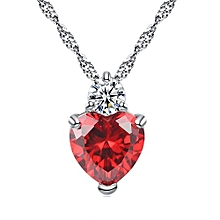 Mens chains and necklaces buy online jumia nigeria gift valentineamp39s day love rhinestone crystal jewelry heart link pendant womenamp aloadofball Image collections