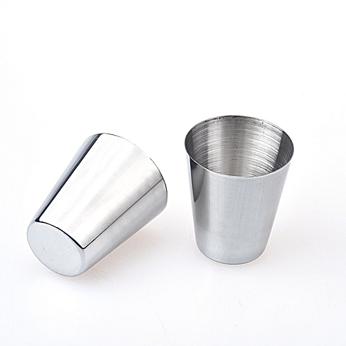 Fohting New 6pcs Stainless Steel Cup Drinking Coffee Tea Tumbler Camping Mug -Silver