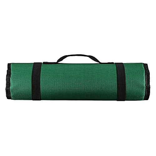 Chef Knife Bag Roll Bag Carry Case Bag Kitchen Cooking Portable Durable Storage[green]