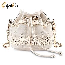 62e98715a3 Guapabien Chic Pure Color Diagonal Chain Strap Drawstring Design Shoulder  Bag For Ladies-OFF-