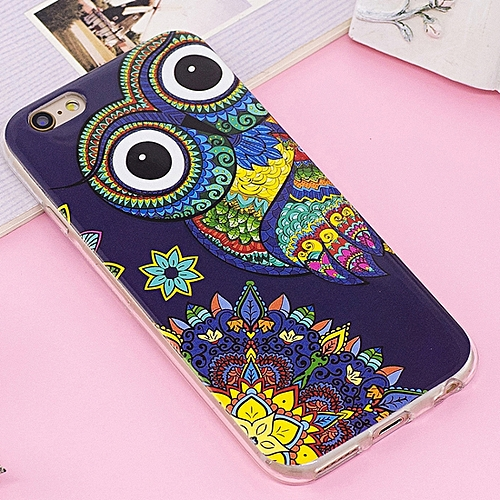 For IPhone 6 & 6s Noctilucent IMD Owl Pattern Soft TPU Back Case Protector Cover