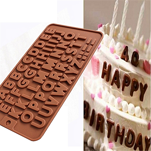 26 Letter Silicone Chocolate Cake Mold Mould Crafts Cookie Candy Ice Cube