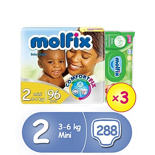 MINI JUMBO PACK SIZE 2 (96*3) + Free Wipes