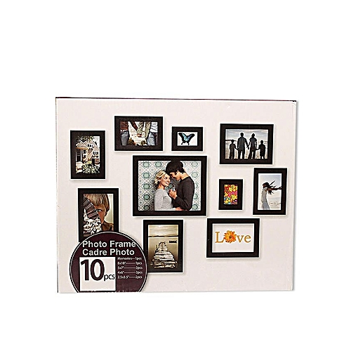 Photo Frame Set - 10 Pcs