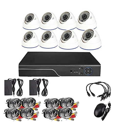8 Channel CCTV Camera Kit (AHD) Nightvision Internet Enable Remote View