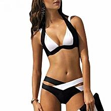 f7d9153c13080 Swimsuit Sexy Swimwear Women Swim Beach Wear Print Bandage Swimsuit