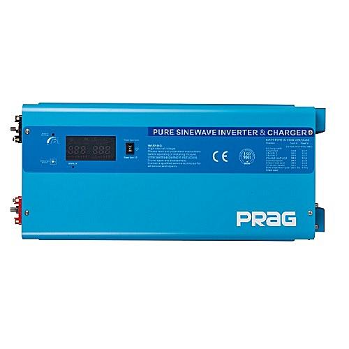 PRAG 6.5KVA-48V Pure Sine Wave Inverter - Wall Mount-H + AC/DC Cables (Blue)
