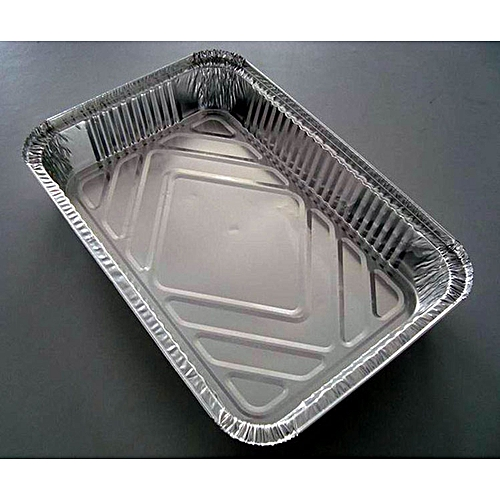 Extra Large Size 100 Folded Aluminium Take Away Foil Plate