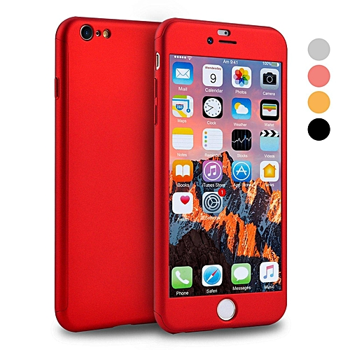 size 40 92c36 53900 IPhone 6 Case, IPhone 6s Case, 360 Full Body Cover Ultra Thin Protective  Hard Slim Case Coated Non Slip Matte Surface With Screen Protector