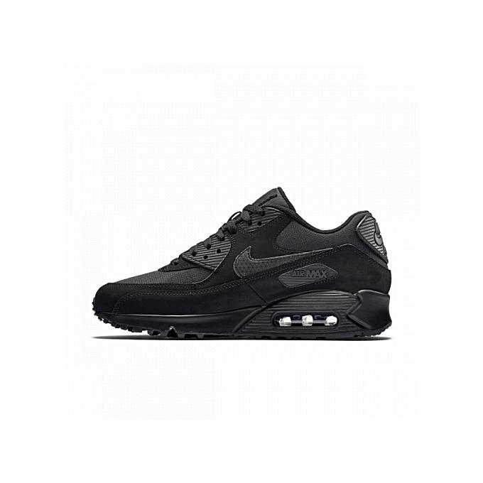 pretty nice 04c0c 37784 ... Air Max 90 Essential Black Shoes ...