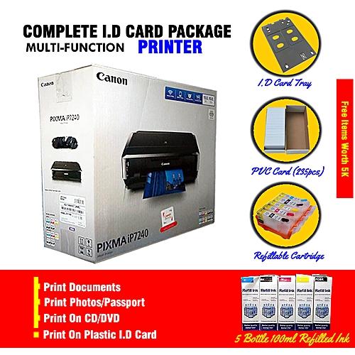 PIXMA IP7240 Complete Package Plastic I.D Card Printer