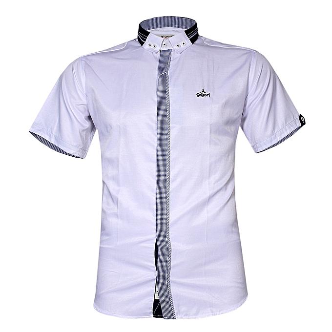 ae5e23e3cfe Gigari Men s Classic Design Short Sleeve Shirt