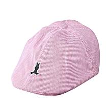 05d91f10462 Hiaojbk Store Kids Baby Boy Girl Cotton Stripe Beret Cap Newsboy Casquette Baseball  Hat RD-