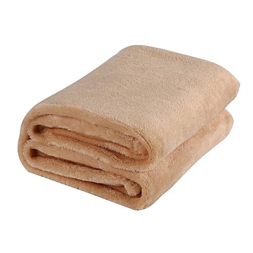 70x100CM Super Soft Keep Warm Flannel Sofa Bedding Office Car Blanket Camel Color