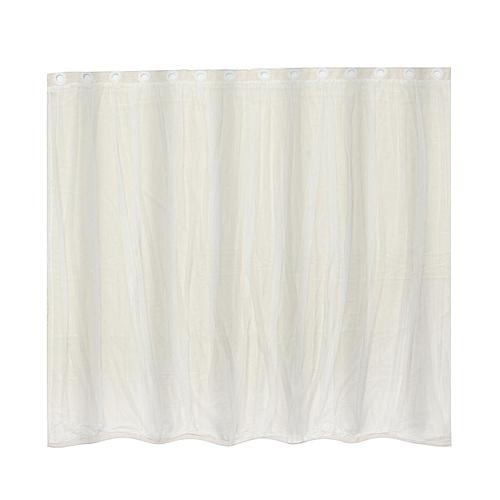 140x230cm Mediterranean Blockout Double Layer Bridal Lace Sheer Eyelet Curtain Beige Cream