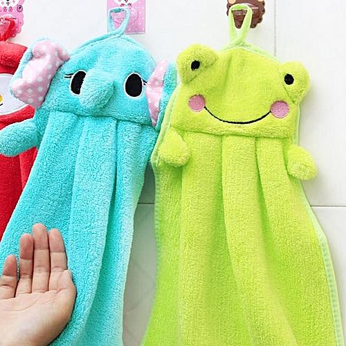 Coral Velvet Bamboo Charcoal Fiber Hand Towel Absorbent Cartoon Hand Towel