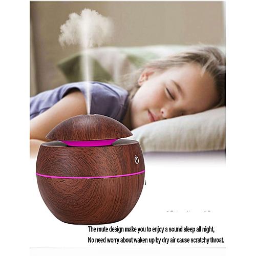 Mini Air Humidifier Wood Grain Essential Oil Diffuser