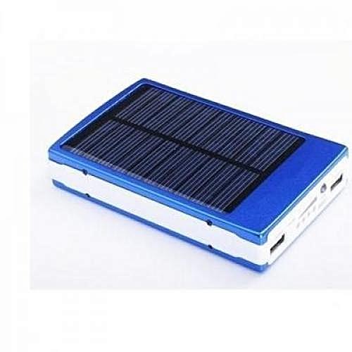 Solar Power Bank With LED Lamp 30000mah - Blue