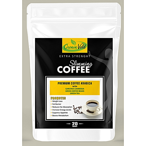 Organic Slimming Coffee; With Garcinia Cambogia, Green Coffee Beans & Green Tea For Weight Loss